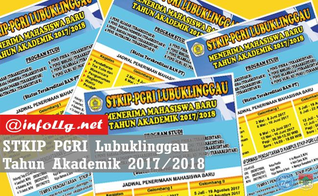 Informasi Penerimaan Mahasiswa Baru STKIP PGRI Lubuklinggau 2017-2018  http://www.infollg.net/2017/06/informasi-penerimaan-mahasiswa-baru-stkip-pgri-lubuklinggau-2017-2018/444