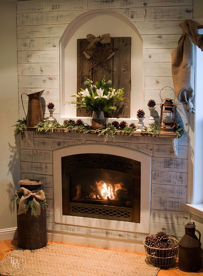 25 best ideas about christmas fireplace decorations on for Mantel display ideas