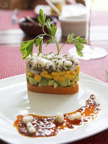 Mexican Ceviche Recipe -Timbal - Mexican Cooking School in Playa Del Carmen #recipe #Mexican #ceviche