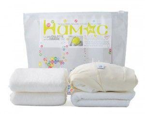 HAMAC Kit d'Essai Couche Lavable & Jetable Coton Bio - Crème S 4-8 Kg