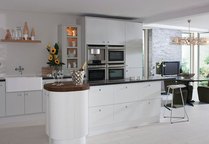 Academy Aspen Kitchen in White. Also available in other colours.
