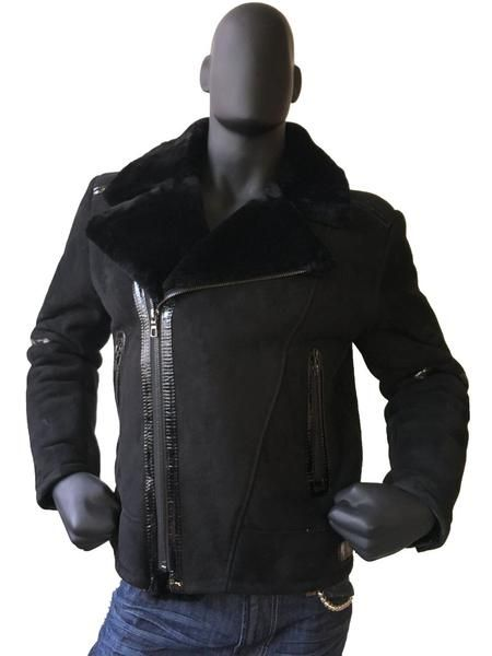 Sheepskin Jacket With Patent Leather Style #5900L MENS      Sheepskin 100% Leather Main zipper pattern for added warmth and protection Two outside pockets One interiorphone pocket Adjustable buckles on the sides ... https://earlybirdsclothing.com/products/sheepskin-jacket-with-patent-leather-style-5900l-mens?utm_campaign=crowdfire&utm_content=crowdfire&utm_medium=social&utm_source=pinterest