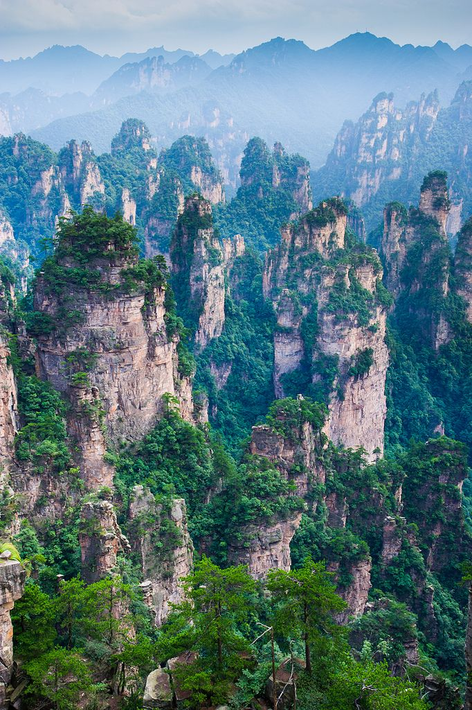 This is definitely on the bucket list: the Tianzi Mountains of China