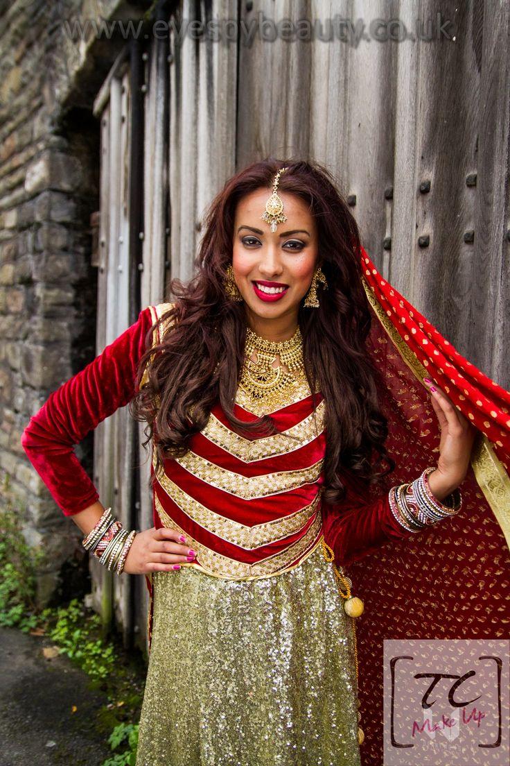 Asian bridal location shoot, photography by Denny Wong, hair & makeup Tasnim Choudhury TC Makeup  www.tcmakeup.co.uk www.eyespybeauty.co.uk  #bridal #weddingdress #brides #bridalmakeup #bridalinspo #bridalinspiration #asianbridal #redandgold