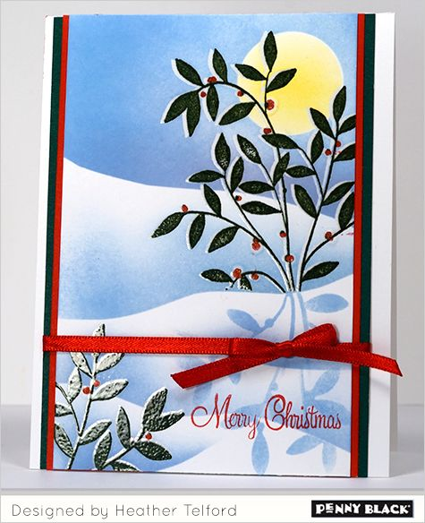 Winter Wonderland with instructions by Heather Telford for Penny Black
