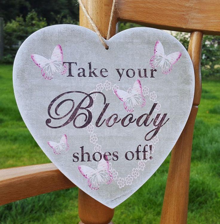 Take your shoes off, home decor, shoe sign, show plaque, HANDMADE plaque