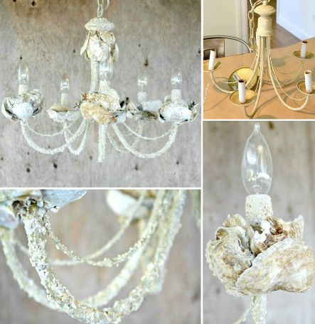25 best ideas about shell chandelier on pinterest for Diy shell crafts