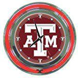 Texas A M Aggies Neon Clock