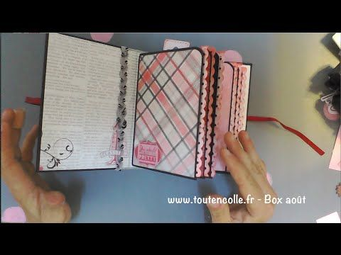 mini album avec la box scrap d'août toutencolle - YouTube