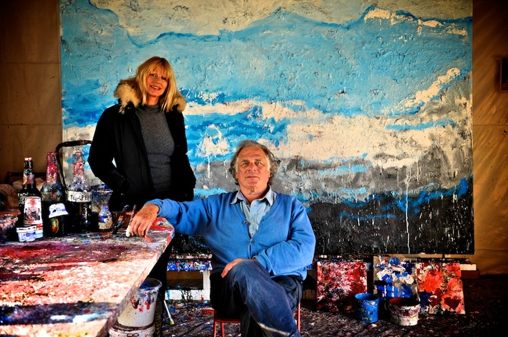 Jan Cremer and his wife in his atelier