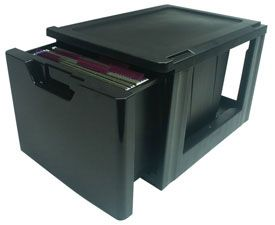 stacking file drawer is an alternative to a filing cabinet and lets you combine and stack to suit your file storage purposes