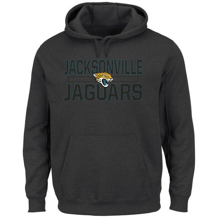 Jacksonville Jaguars Majestic Big & Tall Kick Return Pullover Hoodie - Charcoal
