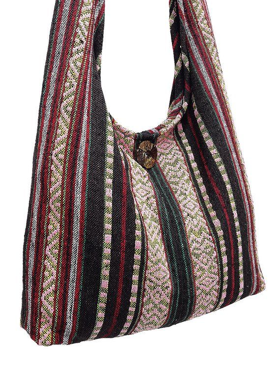 e666c0d6c1e8 Woven Cotton Bag Hippie bag Hobo Boho bag Shoulder bag Sling bag Messenger  bag Tote Crossbody Purse Women bag Handbags Long Strap (CWS) in 2019