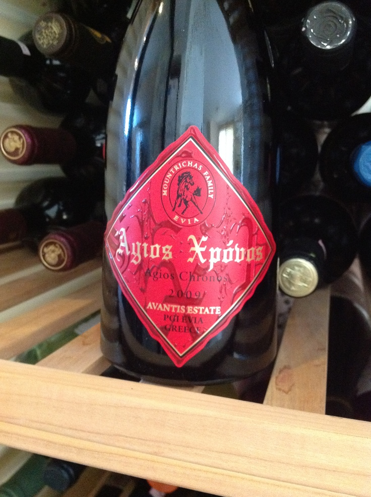 "Avantis Estate, ""Agios Hronos"" 2009. A blend of Syrah with a small amount of Viogner (Rhone style). Dark red ruby color. Following 45 min of decanting: Charming and complex nose with all the typical sweet spices of Syrah, pepper, cinnamon, red fruit, and a lot of herbal notes (mint and eucalyptus). Same flavors on the palate, medium body with excellent but still young tannins. Adequate acidity, very good lasting. It will certainly evolve nice the following years. To keep an eye on it!"