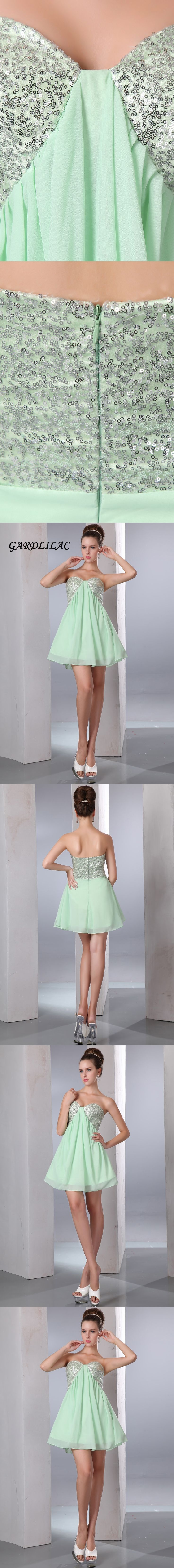 2017 real picture green short cocktail dress with sequined short  cocktail dresses vestidos de coctel abiti da cocktail