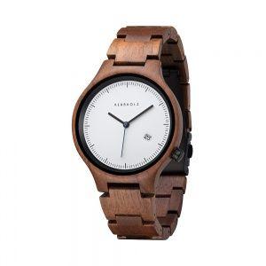 Dřevěné hodinky Kerbholz Lamprecht Walnut Black