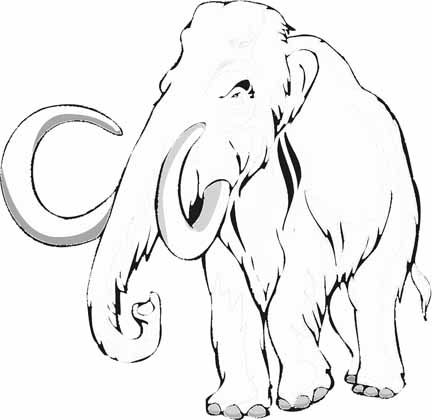 1000 images about mammoths elephants on pinterest for Wooly mammoth coloring page