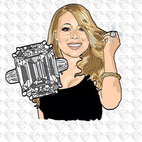 compare mariah careys engagement ring to kim k hope diamond - Mariah Carey Wedding Ring
