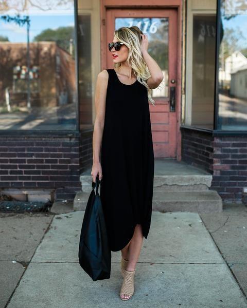 Loft Life Knot Dress - Black – VICI