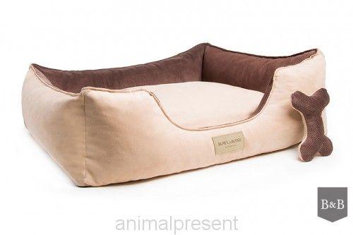 brązowe legowisko dla psa, z materiału, dwustronne/ Classic brown z www.animalpresent.pl od Bowl&Bone Republic #brown #chcolate #cream #brazowe #kremowe #materialowe #animal