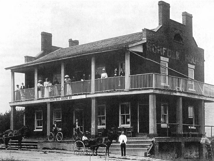 Norfolk House, now the Norfolk Tavern, Port Dover, circa 1895.  The building was used as a military barracks during the 1837 rebellion.