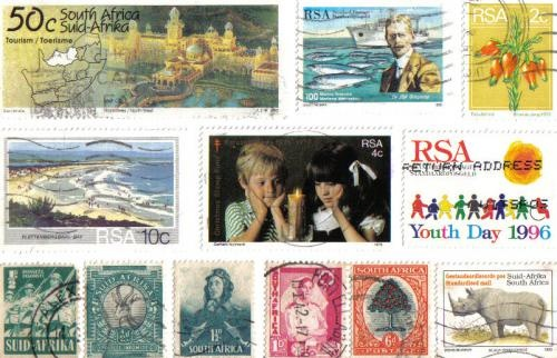 This handmade postcard contains some really old stamps