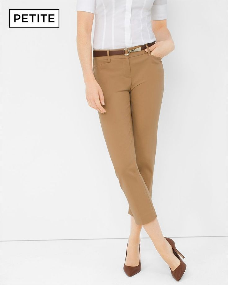 Petite Perfect Form Straight Crop Pants