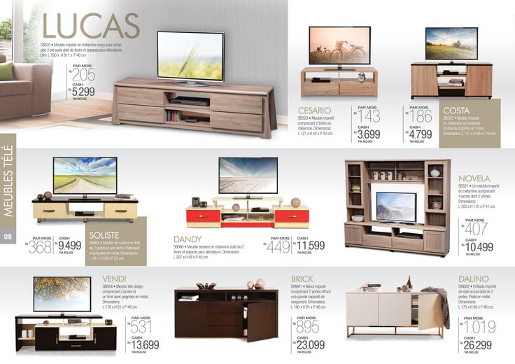 Meubles Tele.. Live life large in your #LivingRoom