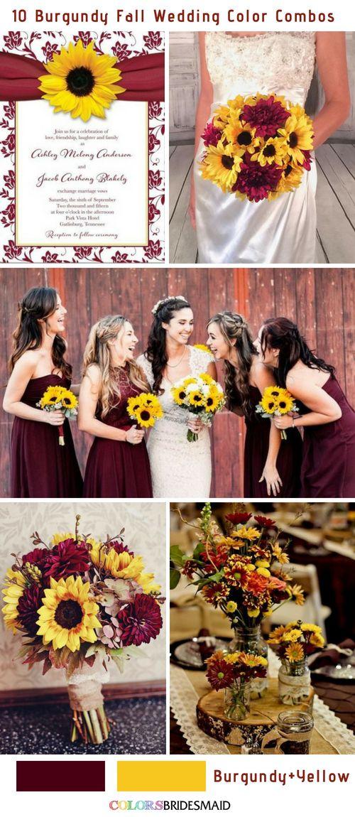 10 combinaisons populaires de couleurs de mariage d'automne en Bourgogne – My Dream Wedding Someday!