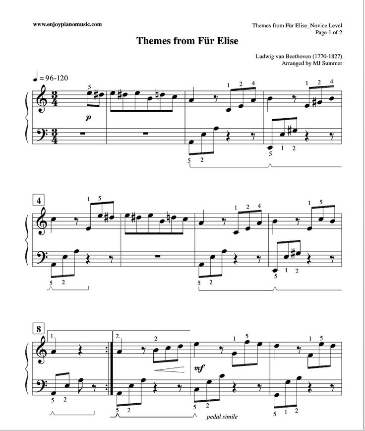 8 Best Images About Classical Piano Sheet Music On