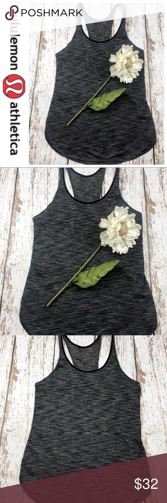 💕SALE💕Lululemon Black Gray Razorback  Tank Top Fabulous 💕SALE💕Lululemon Black Gray Razorback Tank Top lululemon athletica Tops Tank Tops