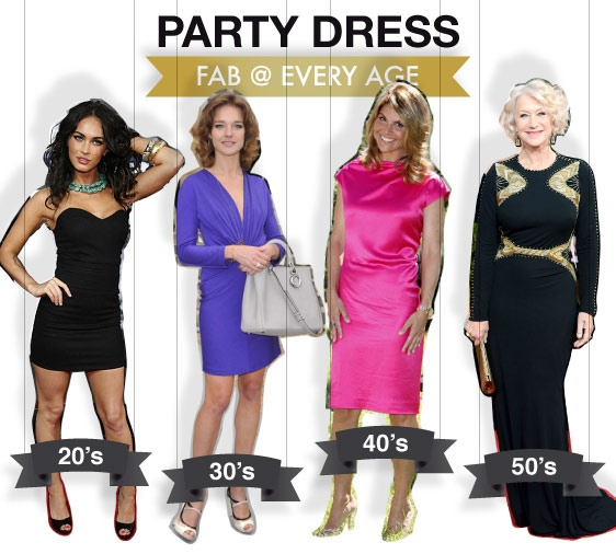 party dress - fab @ every age - shopthemagazine.com #meganfox #nataliavodianova #loriloughlin #helenmirren