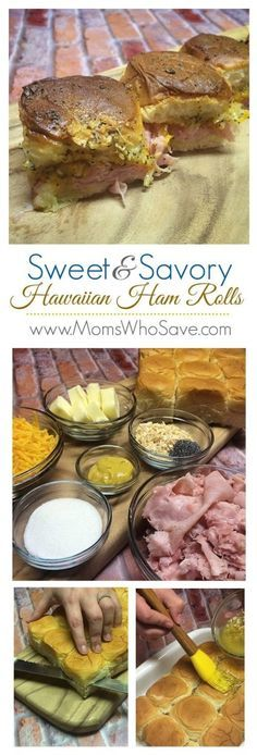 Sweet & Savory Hawaiian Ham Rolls   MomsWhoSave.com  #recipes