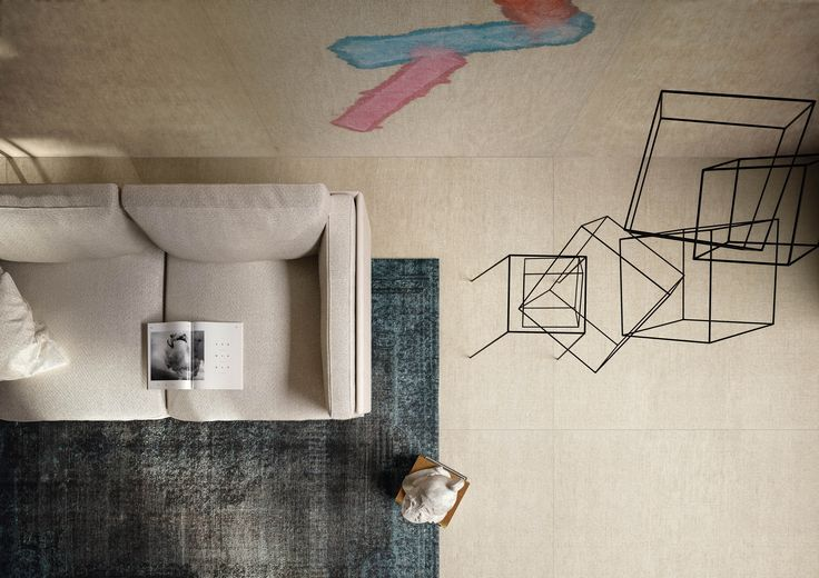 The painted surfaces are geometrical reflections linked by a relationship of mutual reliance and reciprocal interplay. #cedit #ceditceramicheditalia #ceramic  #interiors #interiordesign #surfaces #madeinitaly #euridice #design #art #painting