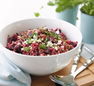 Beetroot and orzo salad