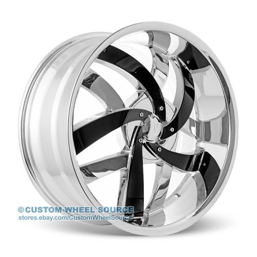 "18"" Chrome Rims Saturn Scion Suzuki Toyota Velocity VW825 Wheel and Tire Package"