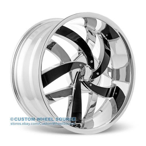 "18"" Chrome Rims Saturn Scion Suzuki Toyota Velocity VW825 Wheel and Tire Package"