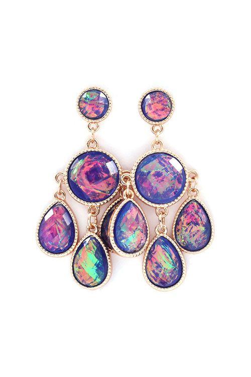 Delphi Chandelier Earrings in Enchanting Blues