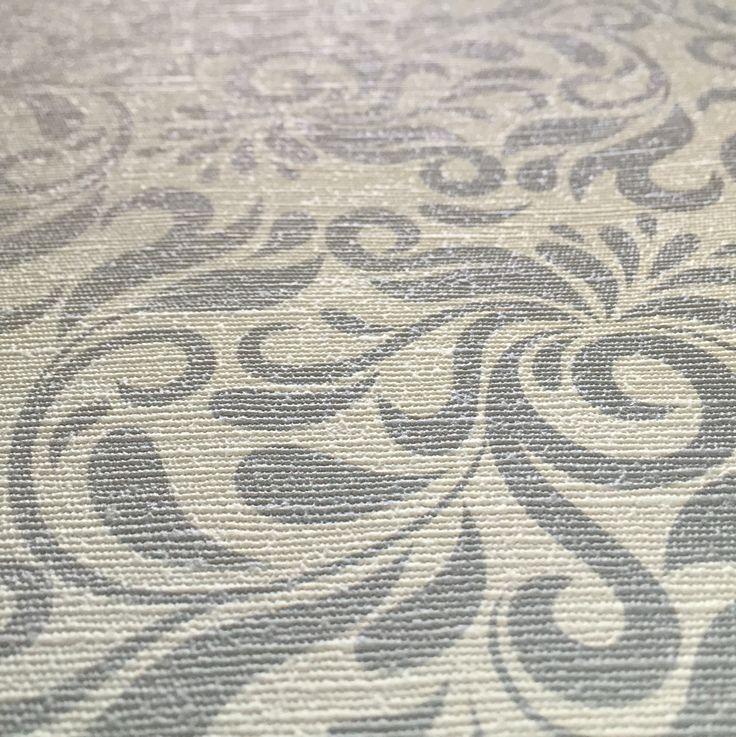 Carta da parati personalizzata: Modello Arabesque - Finitura Jaquard - Colore: Aqua   Personalized wallpaper: Model Arabesque - Jaquard texture - Color: Aqua