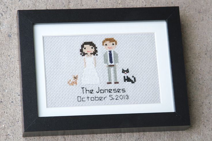 Make your own family portrait with our DIY book! → http://stitchpeople.com/book
