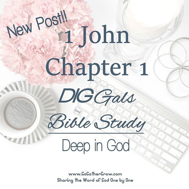 NEW post on the blog! ⠀ DIG Gals (Deep in God) Bible Study on 1 John, chapter 1.⠀ ⠀ Grab your Bible, sticky notes or notebook and head on over via the link...See you soon!