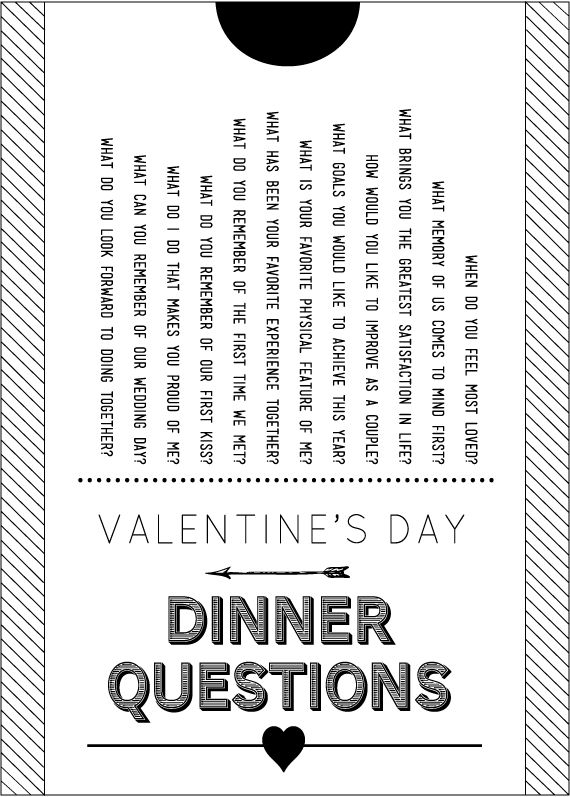valentine's day -or- great idea for a dinner date to start a discussion with hubs