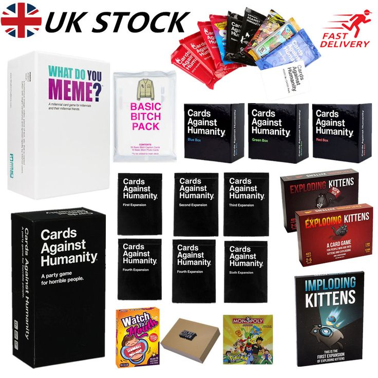 Cards Against Humanity ✔ Exploding Kittens✔Jew Science Pack Party Board Game UK  | eBay