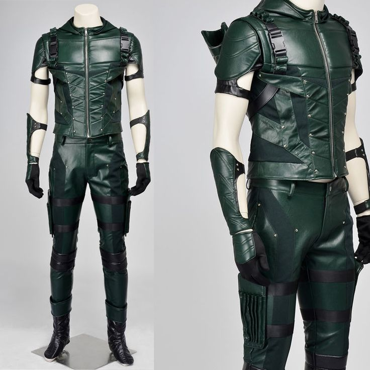2015 Green Arrow Season 4 Oliver Queen Outfit Cosplay Costume Halloween Clothing #Unbranded