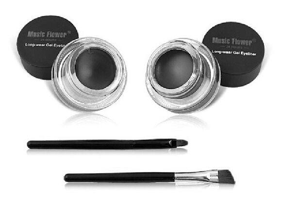 2 в 1 коричневый + черный гель подводка для глаз макияж бесплатная доставка водонепроницаемый бесплатная доставка косметический комплект для глаз макияж глаз купить на AliExpress