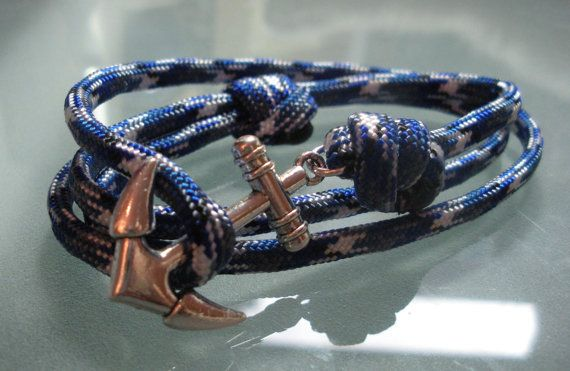 Mens Anchor bracelet by kikiandcoco on Etsy, $28.00 im seriously thinking on buying this