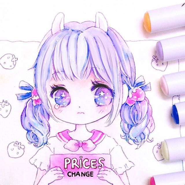 PRICES CHANGE from AUGUST I'm going to increase the prices by 15-20% from August. Pls place your order asap to have the current prices before they get higher ☺️#chibibunny #pastel #chibi #chibigirl #markers #drawing #illustration #art #artist #artwork #originalcharacter #pastelgirl #cutegirls #kawaii #anime #mangagirl