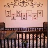 I am going to have to re-do my daughter's room with this idea--Love it!  http://theautocrathaley.blogspot.com/2011/09/nursery-letters-pink-and-brown.html