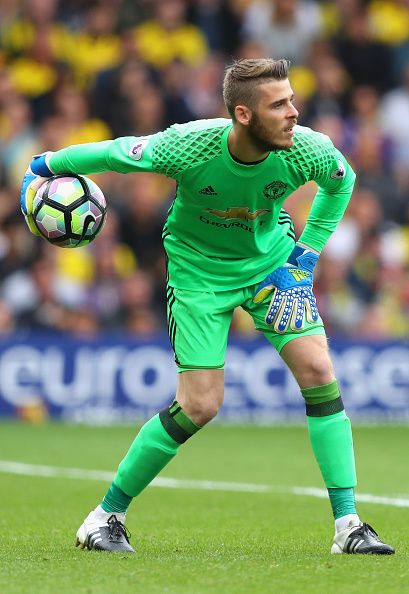 David De Gea of Manchester United in action during the Premier League match…