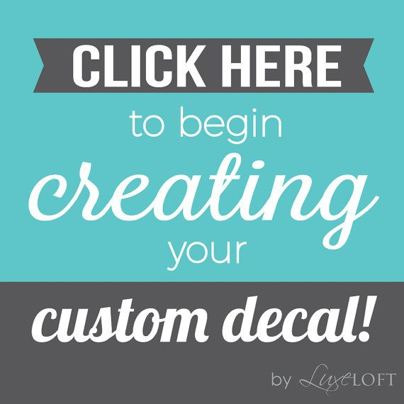 Custom Wall Decals  Create your own quote  Custom by luxeloft
